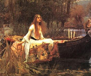 painting, john william waterhouse, and the lady of shalott image