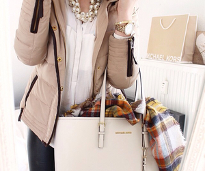 bag, gold, and luxurious image