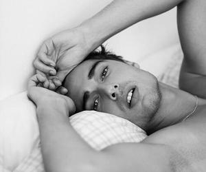 black and white, boy, and Hot image