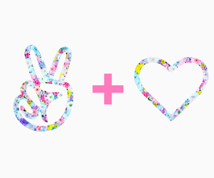 heart, peace, and flowers image