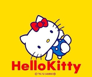 amarillo, hello kitty, and wallpaper image