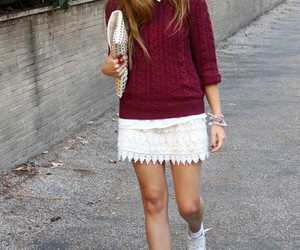 burgundy, clothes, and fall image