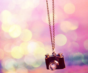 camera, girly, and necklace image