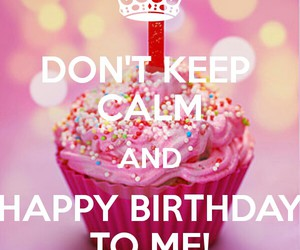 birthday, cupcake, and keep calm image