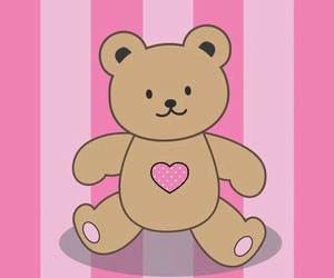 bear, pink, and cute image