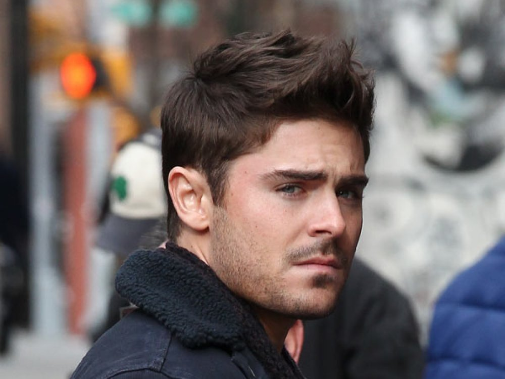 zac efron simple short hairstyle side view