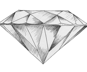 diamond, drawing, and art image