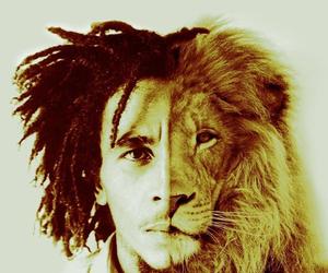 bob marley, lion, and rastafari image