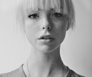 girl, freckles, and blonde image