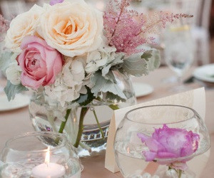 beautiful, candles, and flowers image