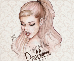 ariana grande, problem, and drawing image