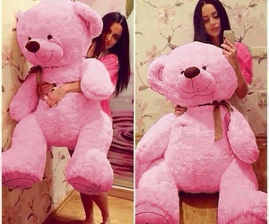 pink and bear image