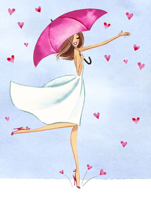 drawing, girl, and pink image