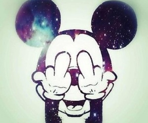 galaxy, mickey, and mickey mouse image