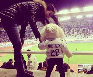 love, baby, and football image