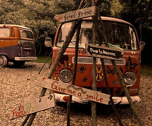 free, hippie, and smile image