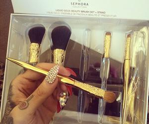 nails, makeup, and Brushes image