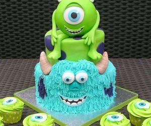 cake, cupcake, and monster image