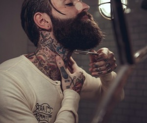 tattoo, beard, and handsome image