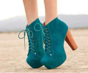 blue, boots, and clothes image