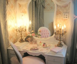 pink, room, and mirror image