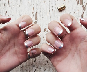 nails, silver, and beauty image