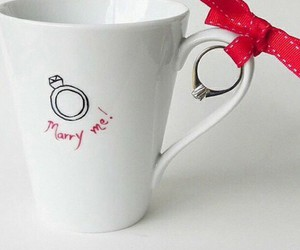 ring, marry me, and cup image