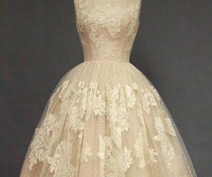 dress, vintage, and lace image