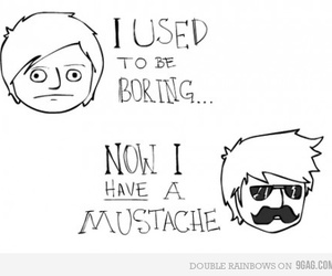 hipster and mustache image