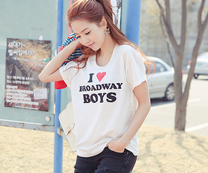 asian, broadway, and girl image