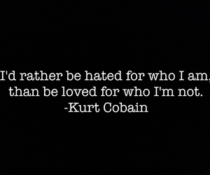 kurt cobain, loved, and quote image