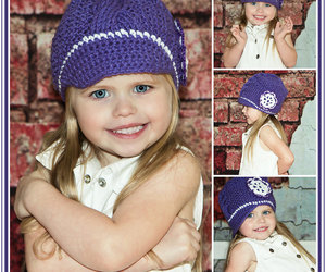 kids fashion, newsboy cap, and hat with flower image