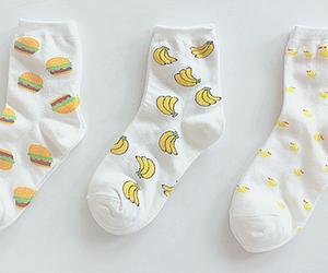 socks, banana, and hamburger image
