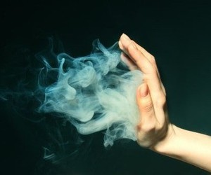 smoke and hand image