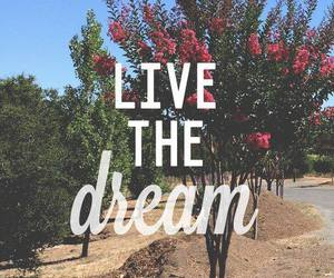 Dream, live, and quote image