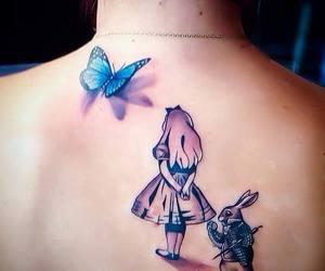 girl, tattoo, and wonderland image