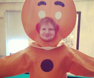 ed sheeran, ginger, and quote image