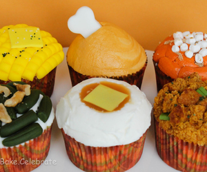 cupcakes, recipes, and thanksgiving day image