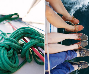 boat shoes, ocean, and rope image