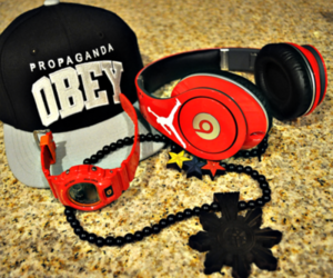 cap, fashion, and obey image
