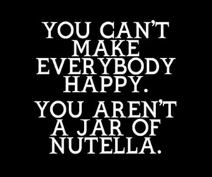 nutella, happy, and quote image