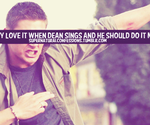 dean winchester, supernatural, and supernaturalconfessions image