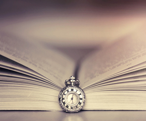 books, time, and vintage image