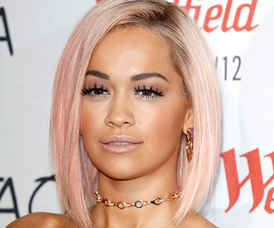 hair, pink, and rita ora image