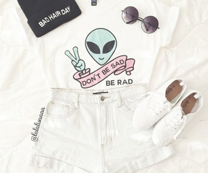 outfit, fashion, and alien image