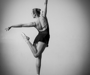 ballet, black and white, and pose image