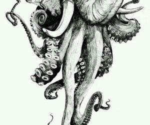 elephant, octopus, and art image