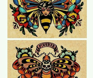 butterfly, colorful, and death image