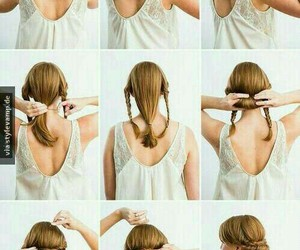 beauty, braid, and hairdo image