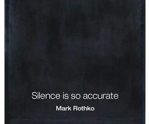 quotes, silence, and accurate image